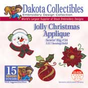 Jolly Christmas Applique Sewing Big 34