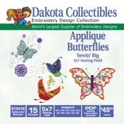 Applique Butterflies Sewin Big