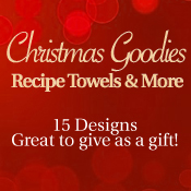 Christmas Goodies Recipe Towels