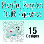 Playful Puppies Quilt Squares