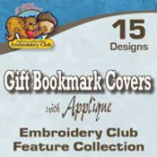 Gift Bookmark Covers Applique (5x7)