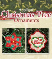 Applique Christmas Tree Ornaments